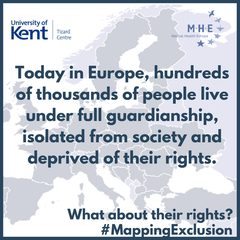 Today in Europe, hundreds of thousands of people live under full guardianship